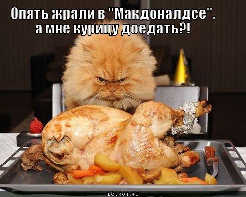 курицу доедать?!