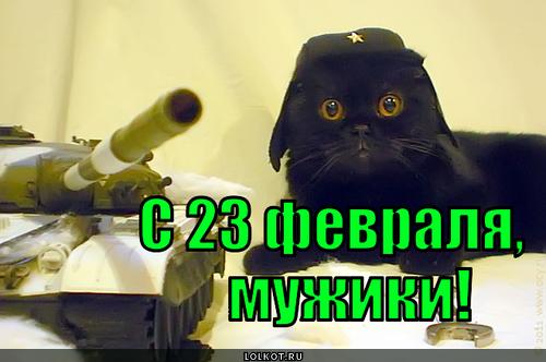 Лолкот.ру поздравляет всех с Днем Защитника Отечества!